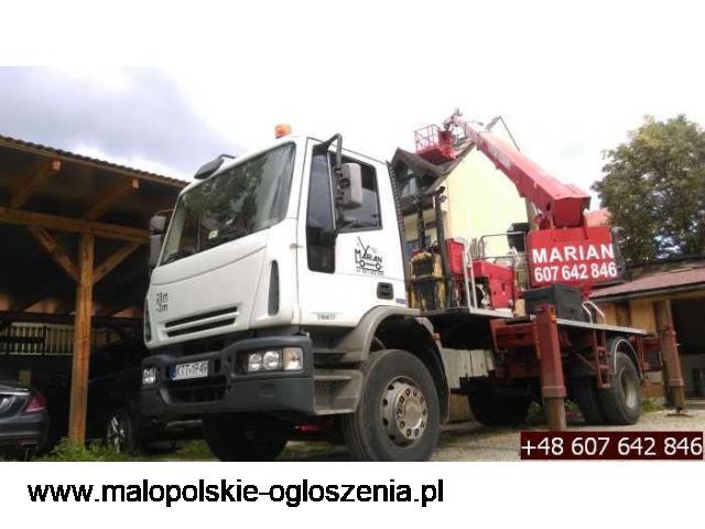 Pielęgnacja drzew, usługi dźwigowe i podnośnik koszowy - Podhale