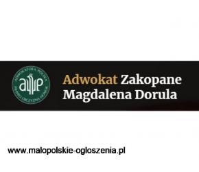 Adwokat Zakopane  Magdalena Dorula